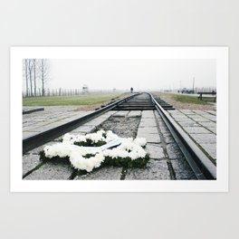 Auschwitz-Birkenau Railroad Art Print