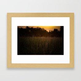 Sunset in the Fields Framed Art Print