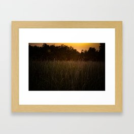 Sunset in the Fields Framed Art Print