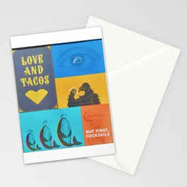"""""""Love and Tacos ... But First, Cocktails"""" Stationery Cards"""