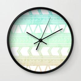 Sherbet Geometric Pattern Wall Clock