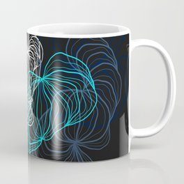 Gray, blue and white / digital drawing Coffee Mug