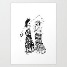 Tribe   Fashion Illustration Art Print