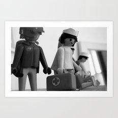 Lego nurse Art Print