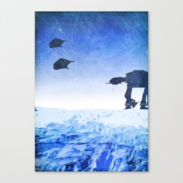 Empire Strikes Back Minimalist Design Canvas Print