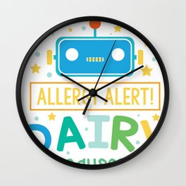 Dairy Allergy - Lactose Intolerance - Milk and Cheese Wall Clock