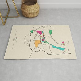 Colorful City Maps: Perm, Russia Rug