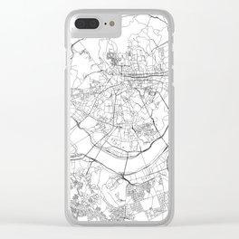 Seoul White Map Clear iPhone Case
