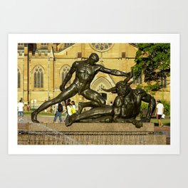Archibald Fountain, Hyde Park, Sydney Art Print