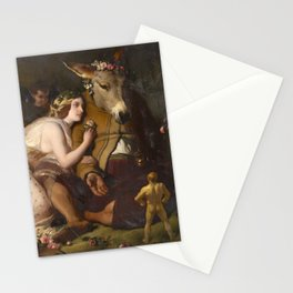 Scene from A Midsummer Night's Dream. Titania and Bottom by Edwin Henry Landseer (1848) Stationery Cards