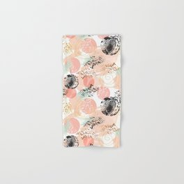Pattern abstract shapes pastel and textures Hand & Bath Towel