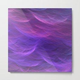 Pink and Purple Ultra Violet Soft Waves Metal Print