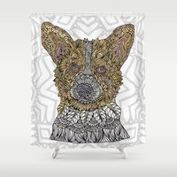 corgi Shower Curtains featuring Welsh Corgi by ArtLovePassion