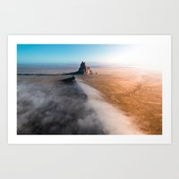 Shiprock volcanic formation in New Mexcio Art Print