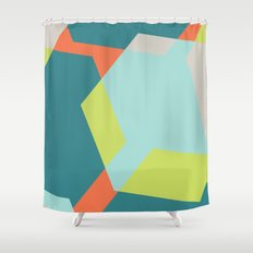 Hex - Teal Shower Curtain