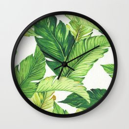 BANANA JUNGLE Wall Clock