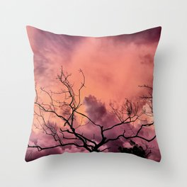Lightning Tree Throw Pillow