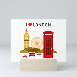 I Love London Mini Art Print