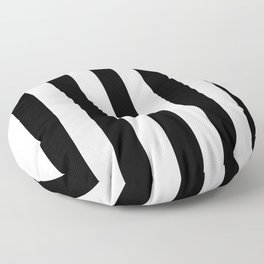 Lowest Price On Site - Vertical Black and White Stripes Floor Pillow