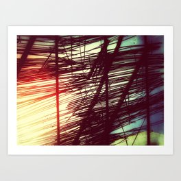 Linear Whilst Glowing Art Print
