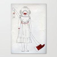 scuba Canvas Prints featuring Scuba by Serga