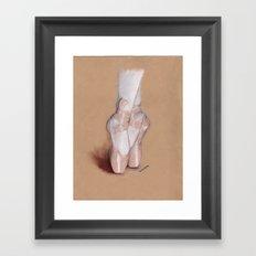 Ballet Pointe Shoes. Framed Art Print