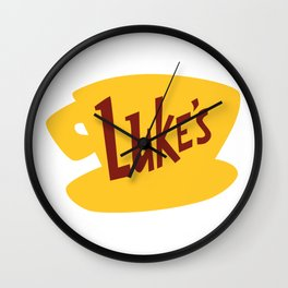 Luke's Diner Stars Hollow Coffee Logo Wall Clock