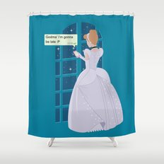 Cinderella - At home before midnight Shower Curtain