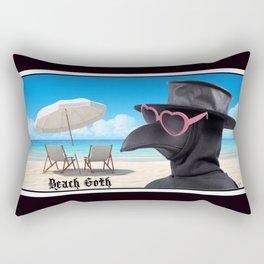 Beach Goth Rectangular Pillow