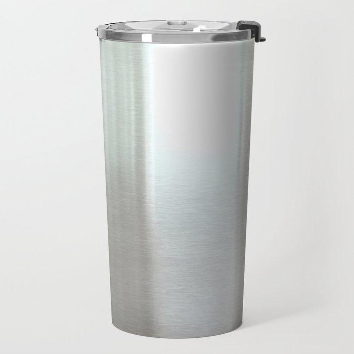 Industrial Brushed Stainless Travel Mug