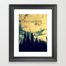 Wander and Wonder Framed Art Print