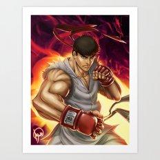 Ryu Street Fighter Art Print