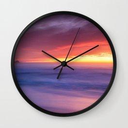 Picture California USA Rockaway Beach Pacifica Sea Wall Clock
