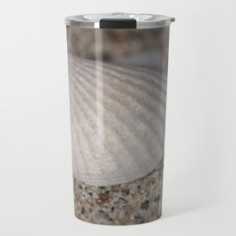 Sea shell on the beach Travel Mug
