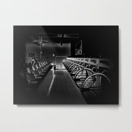 Darkside of the Laundry-mat Metal Print