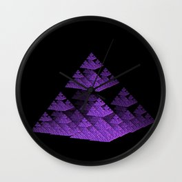 3D Fractal Pyramid Wall Clock