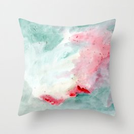 Warm swim Throw Pillow
