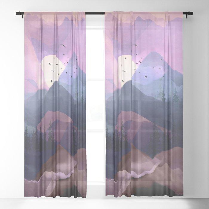 Misty Mountain Morning Sheer Curtain