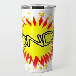Cartoon Yellow Monday Isolated Splash Travel Mug