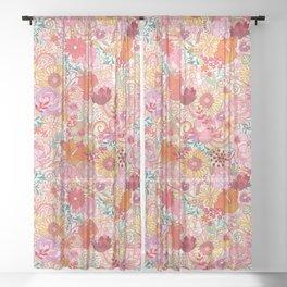 Midsummer festival flowers Sheer Curtain