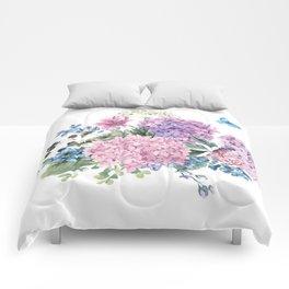 Summer Vintage Hydrangea Comforters
