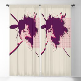 Fizzing Forth Pink Gin Blackout Curtain