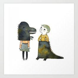 Dinosaur Fun Art Print
