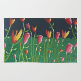 Field of Fowers painting Rug