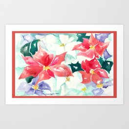 Poinsettia Cheer Art Print