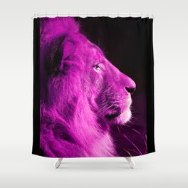 Pretty Kitty in Purple Shower Curtain