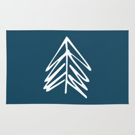 Pacific Northwest Evergreen   In Indigo Rug