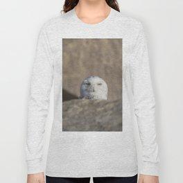 Peekaboo Snowy Owl Long Sleeve T-shirt