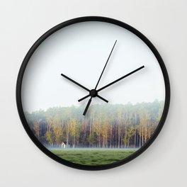Misty Loneliness  Wall Clock