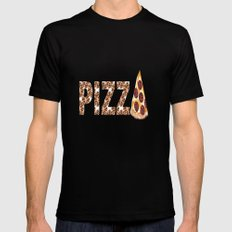 Have A Slice Black MEDIUM Mens Fitted Tee